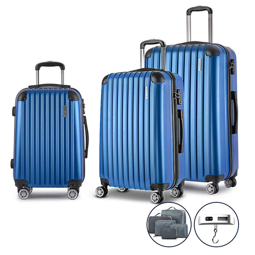 Wanderlite 3 Piece Super Lightweight Suitcase Trolley Set - BLUE