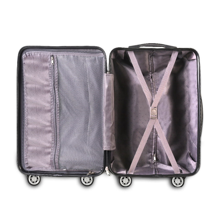 Wanderlite 2 Piece Super Lightweight Hard Suit Case - BLACK