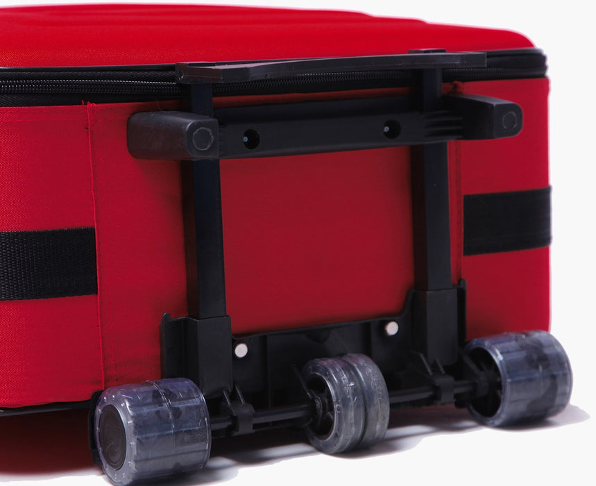 Ultra-Light Suitcase Trolley Travel Bag Luggage Set 5pc - RED