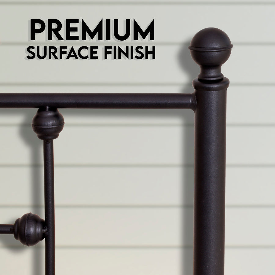farmhouse bed frames - Black - Ambee21
