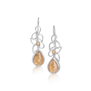 Cascade Earrings with Topaz
