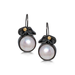 Sprinkle Earrings with Mabe Pearl