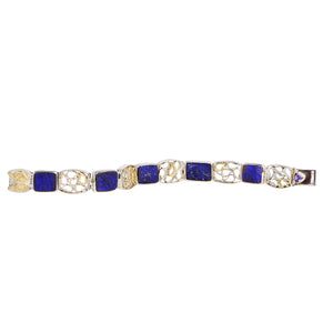 Waterfalling Bracelet with Natural Surface Lapis