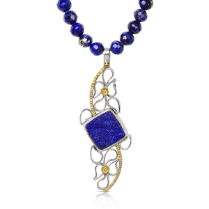 Twin Waterfalling Pendant with Lapis