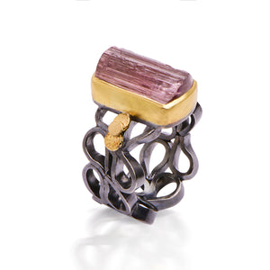 Tourmaline Crystal Ring