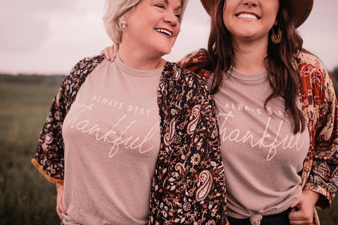 always stay thankful tee | taupe
