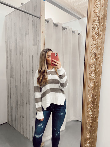 higher power striped sweater | coco
