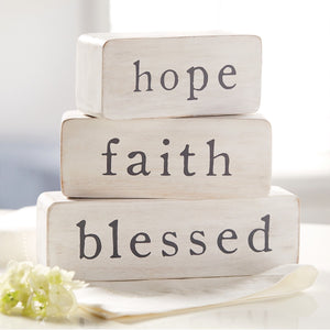 HOPE FAITH BLESSED BLOCKS
