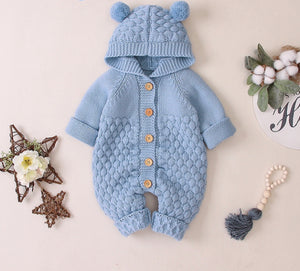 Bear knit jumpsuit