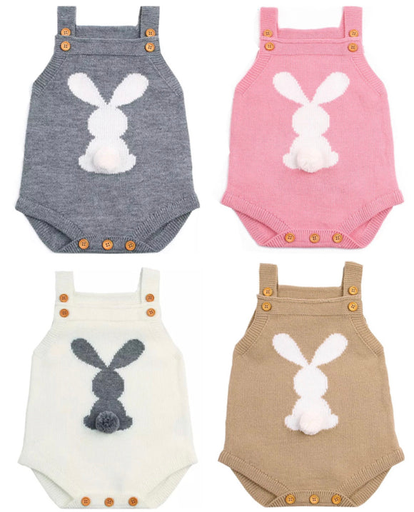 Knitted bunny bodysuit