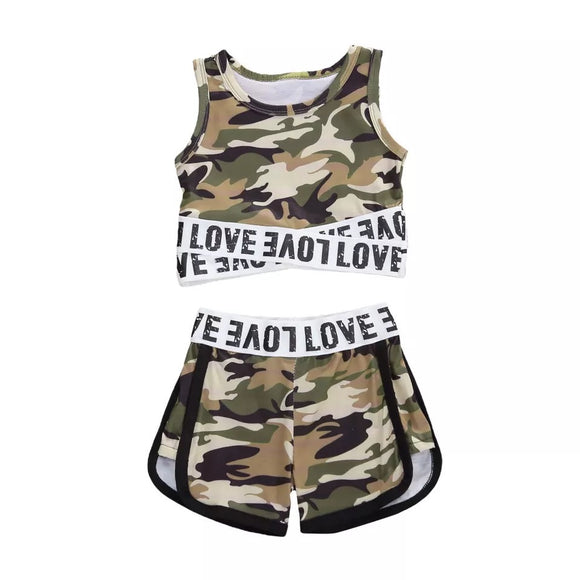 Camo love crop set