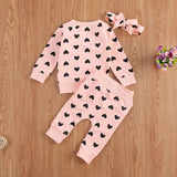 Love heart tracksuit set