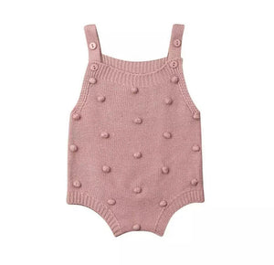 Knitted polka bodysuit