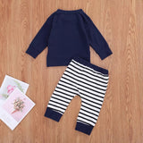 Stripe sweats set