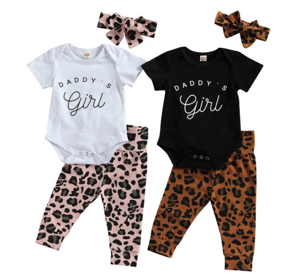 Daddy's girl leopard set