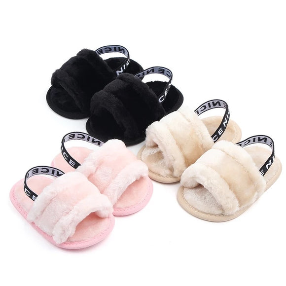 Fluffy slides • Assorted colours
