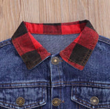 Plaid denim jacket