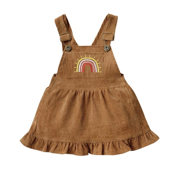 Corduroy rainbow dress