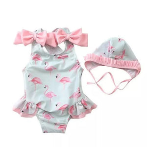 Flamingo swimsuit set