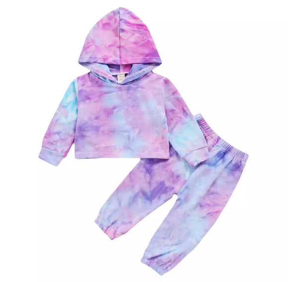Tie dye cropped tracksuit