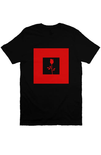 Rose - T Shirt - Black