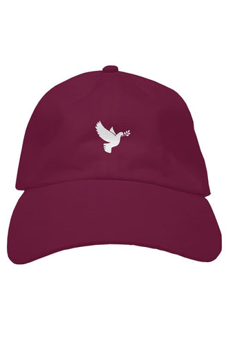Hat - Dove - Maroon