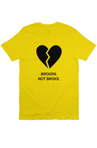 Broken - T Shirt - Yellow