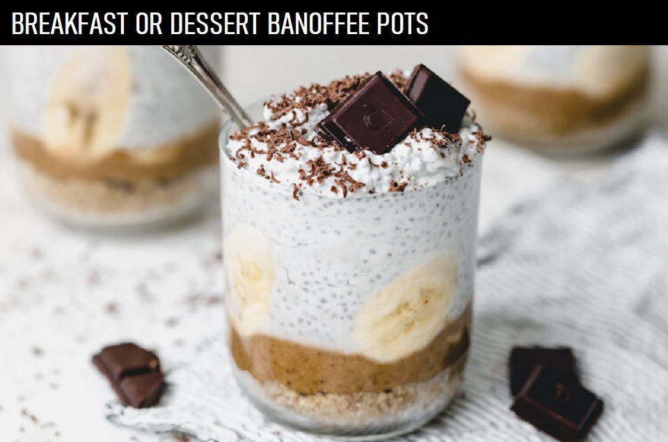 BREAKFAST OR DESSERT BANOFFEE POTS
