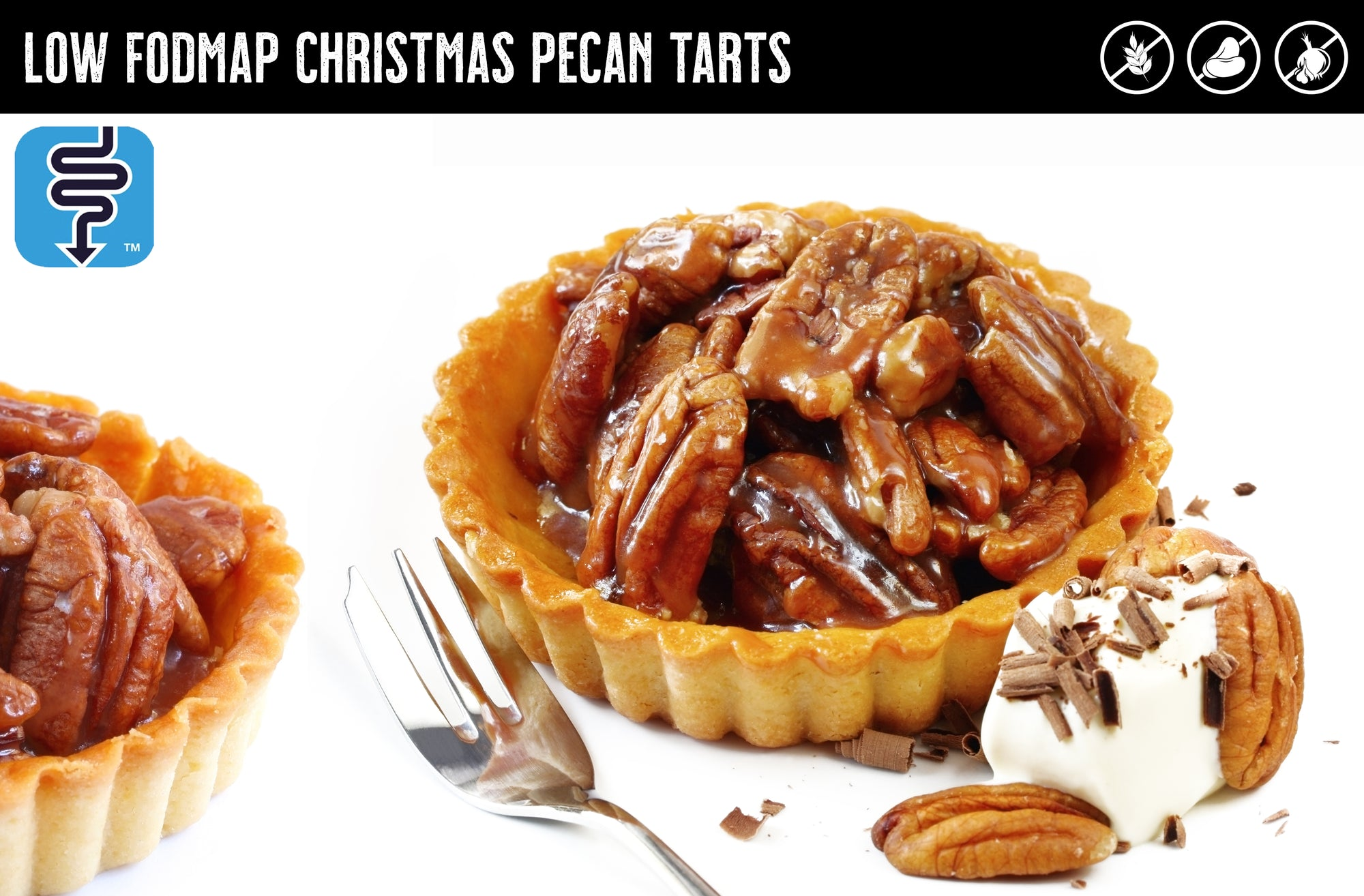MONASH UNIVERSITY Low FODMAP Christmas Pecan Tarts