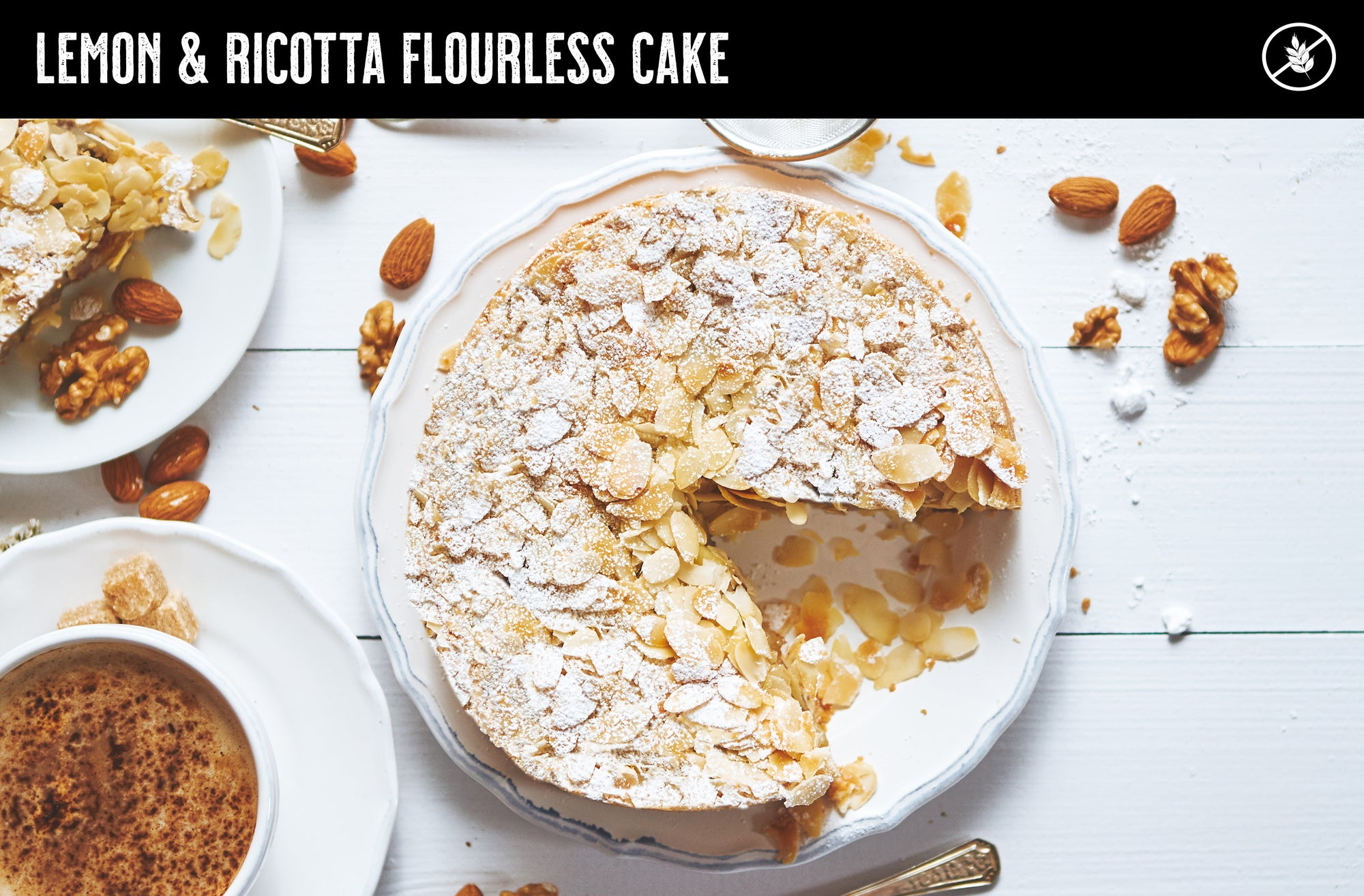 Lemon & Ricotta Flourless Cake