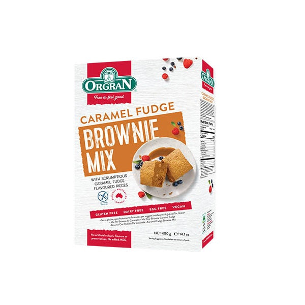 Orgran Cake Mix Brownie Caramel 400g