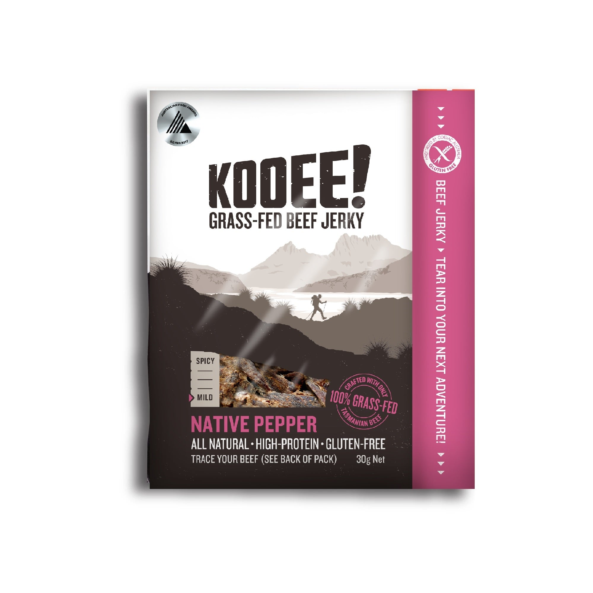 Kooee Jerky Native Pepper 30g