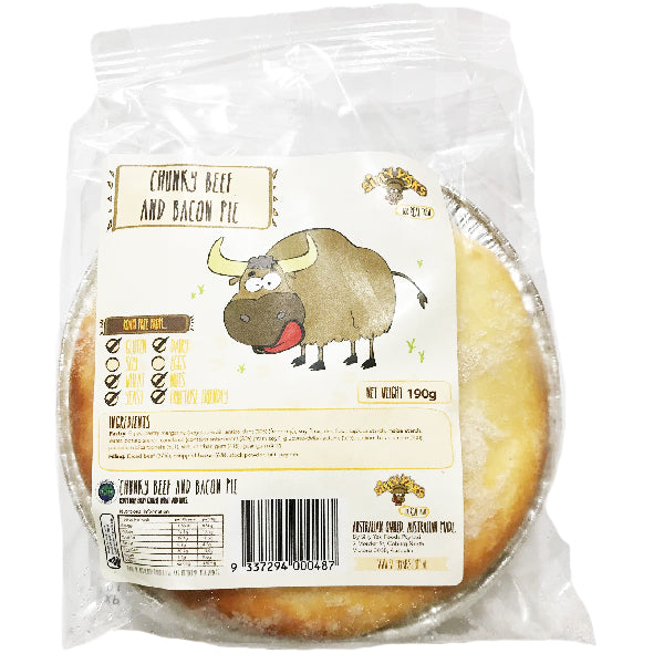 Silly Yaks Beef and Bacon Pie 190g