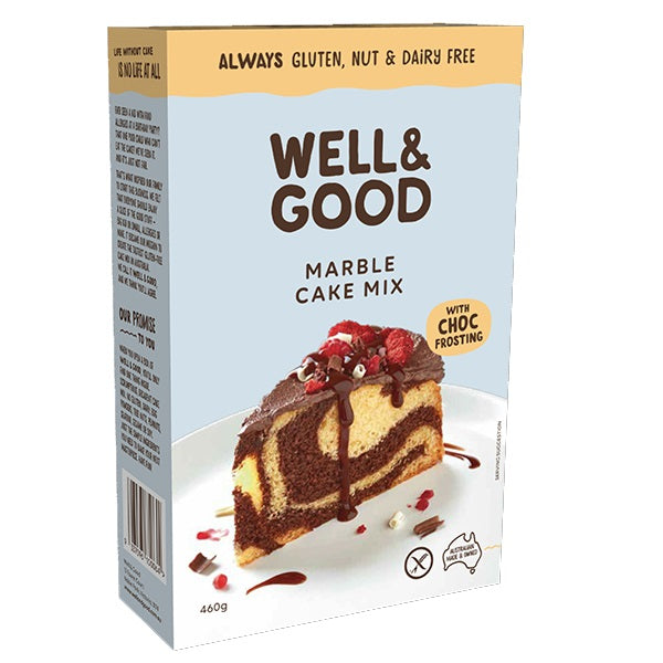 Well & Good - Marble Cake & Chocolate Frosting Mix 545g