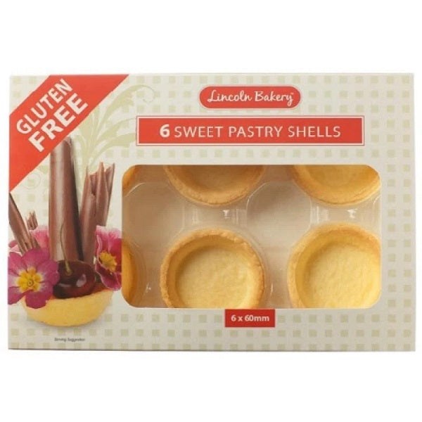 Lincoln Bakery - Pastry Shells - 6 Sweet 60mm
