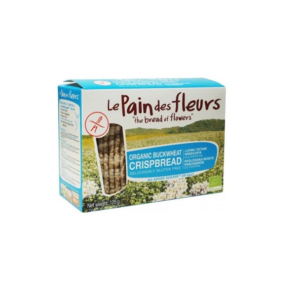Le Pain Des Fleurs Crispbread - Buckwheat No Added Sugar 125g