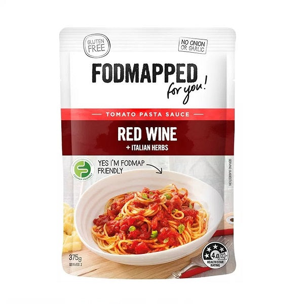 Fodmapped Sauce - Red Wine and Italian Herbs 375ml