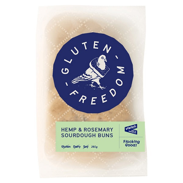 Gluten Freedom Buns Hemp & Rosemary (3) 265g