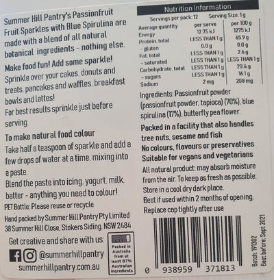 Summer Hill Pantry - Sparkles - Blue  400g