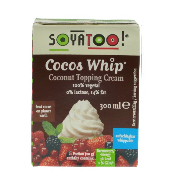 Soyatoo - Carton - Coconut Whipping Cream 300ml