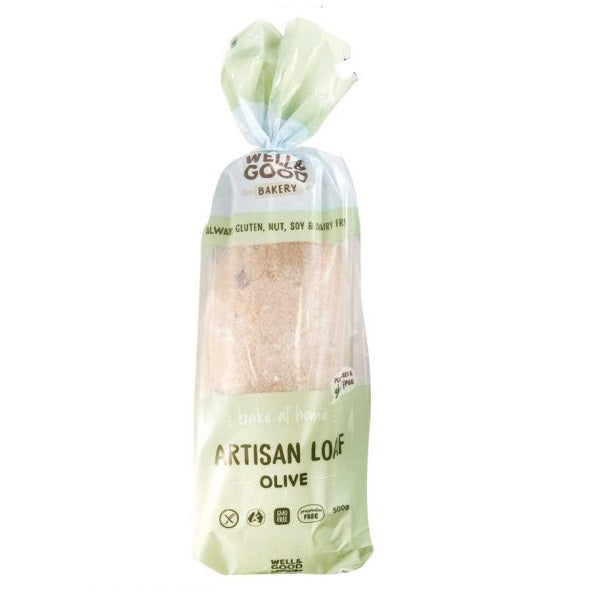 Well and Good Bread - Artisan White Loaf Olive 500g