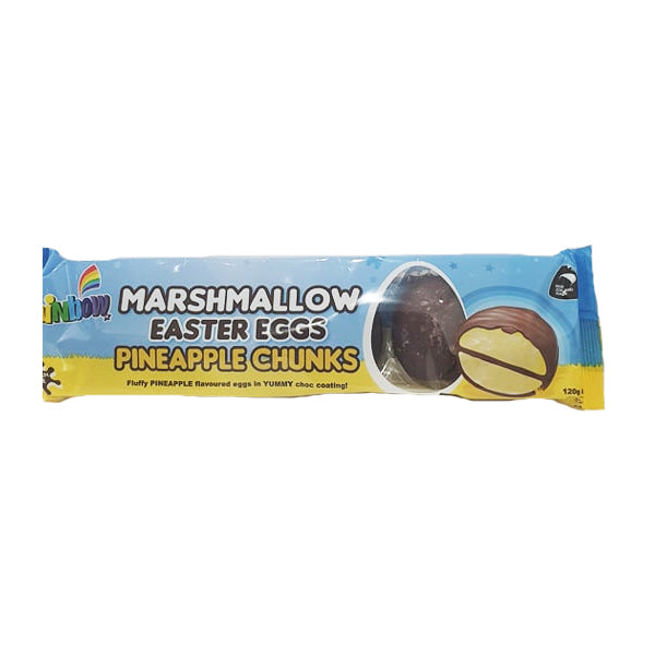 Rainbow - Marshmallow Easter Eggs - Pineapple 6 Pack 120g