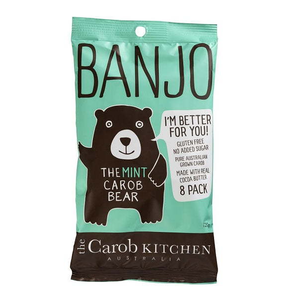 The Carob Kitchen 8 Pack Bears Mint 120g