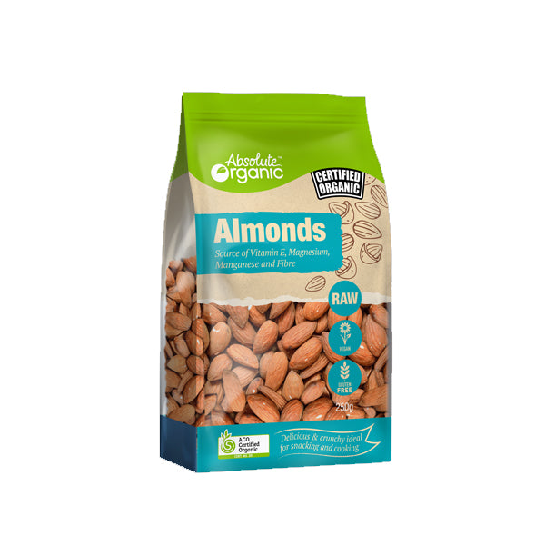Absolute Organic - Nuts - Raw Almonds 250g