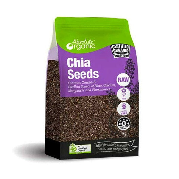 Absolute Organic - Seeds - Chia Black 400g