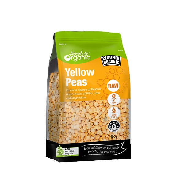 Absolute Organic - Split Yellow Peas 400g
