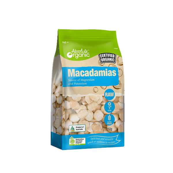 Absolute Organic - Nuts - Raw Macadamias 250g