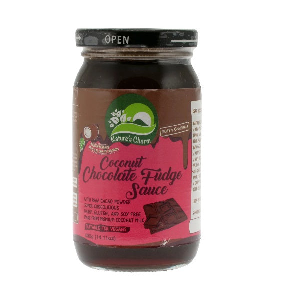 Natures Charm - Coconut Choc Fudge Sauce 400g