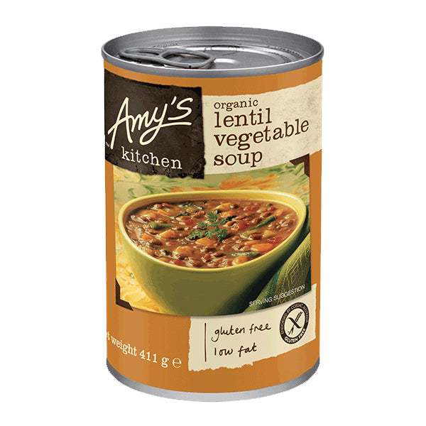 Amys Soups Lentil Vegetable 411g