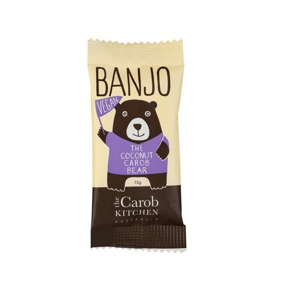 The Carob Kitchen Vegan Banjo Bear Coconut 15g